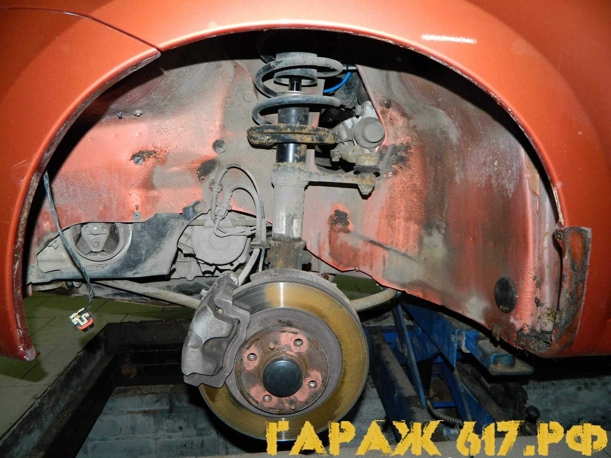 Обработка порогов автомобиля